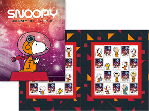 Snoopy Journey to Deep Space stamp pack product photo