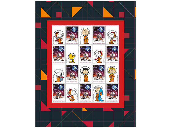 Snoopy Journey to Deep Space stamp pack product photo Internal 3 DETAILS