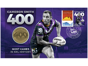 Cameron Smith: 400 Games medallion cover product photo