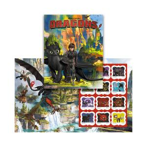 How to Train Your Dragon stamp pack product photo