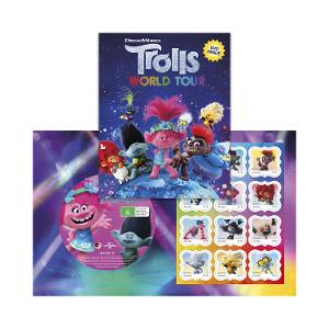 Trolls World Tour stamp pack (with Trolls 2016 DVD) product photo