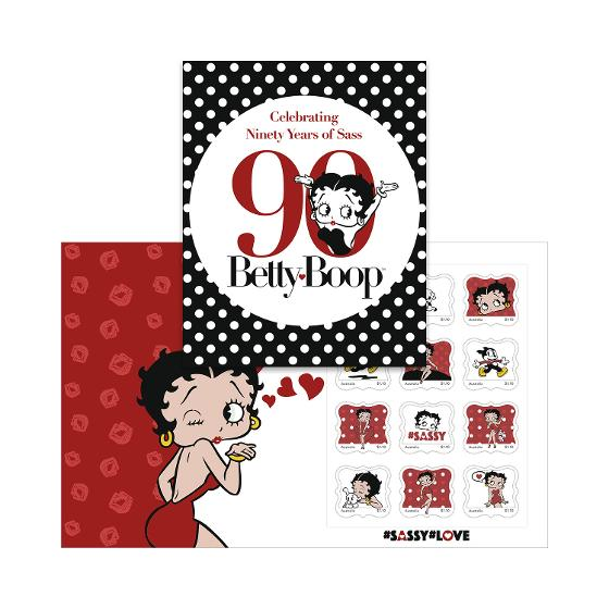 Betty Boop: 90 Years stamp pack product photo Internal 4 DETAILS