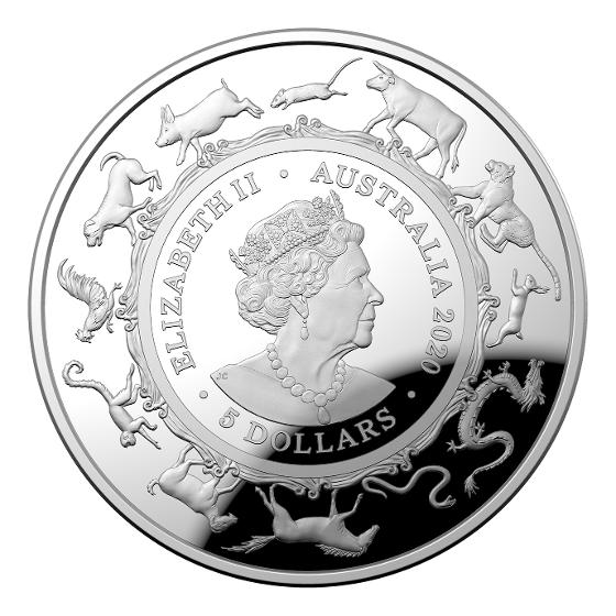 2020 $5 Fine silver proof Domed coin product photo Internal 5 DETAILS