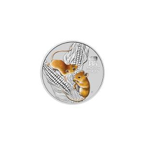 2020 Year of the Mouse 1/2oz silver bullion coin product photo