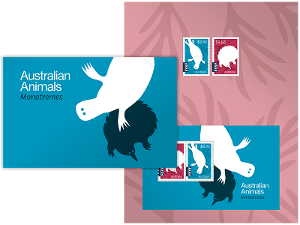 Australian Animals Monotremes stamp pack product photo