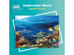 500 piece Underwater World jigsaw puzzle product photo