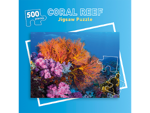 500 piece Coral Reefs jigsaw puzzle product photo