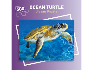 500 piece Ocean Turtle jigsaw puzzle product photo