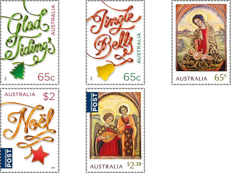 Christmas Stamps.Set Of Christmas 2018 Stamps