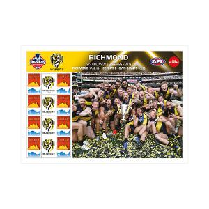 2019 AFL Premiers - Richmond Tigers stamp sheet product photo