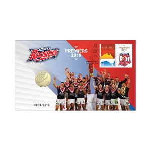 2019 NRL Premiers - Sydney Roosters postal numismatic cover product photo
