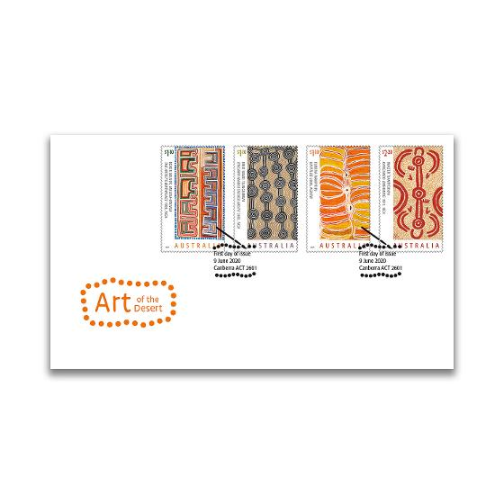 First day Art of the Desert gummed stamps cover product photo Internal 1 DETAILS