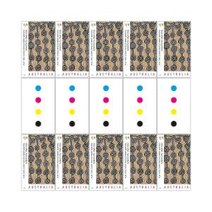 Gutter strip of 10 x $1.10 Tingarri Mamultjulkulakutu stamps product photo