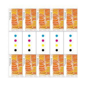 Gutter strip of 10 x $1.10 Untitled stamps product photo