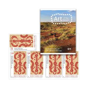 Sheetlet of 5 x $2.20 Kangaroo Dreaming stamps product photo