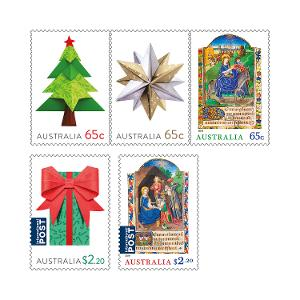 Set of Christmas 2019 gummed stamps product photo