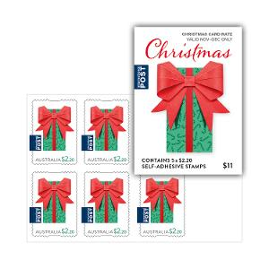 Sheetlet of 5 x $2.20 Christmas 2019 international secular stamps product photo