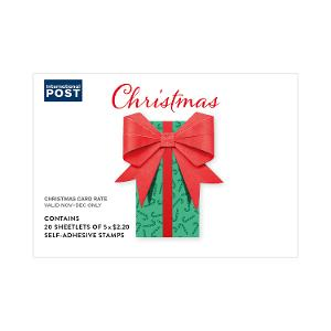 Chequebook of 20 x 5 x $2.20 Christmas 2019 secular stamps product photo