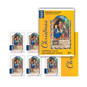 Sheetlet of 5 x $2.20 Christmas 2019 international religious stamps product photo