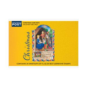 Chequebook of 20 x 5 x $2.20 Christmas 2019 religious stamps product photo
