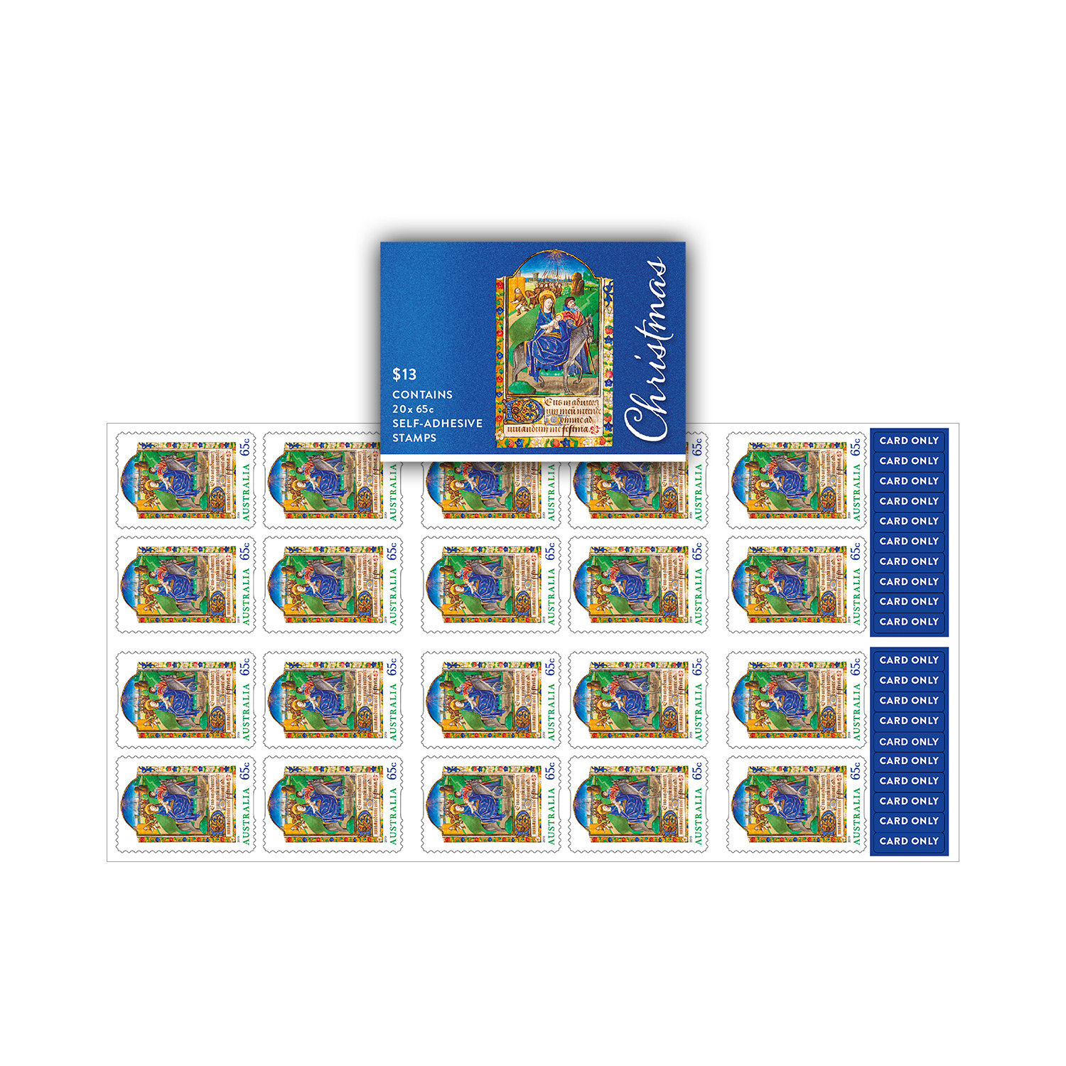 Religious Christmas Stamps 2020 Booklet of 20 x 65c Christmas 2019 religious stamps   Christmas 2019