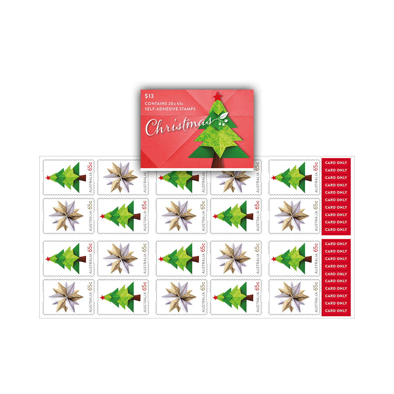 Christmas Stamps 2019.Booklet Of 20 X 65c Christmas 2019 Secular Stamps