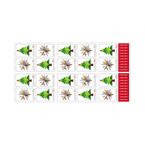 Chequebook of 20 x 20 x 65c Christmas 2019 secular stamps product photo Internal 2 DETAILS