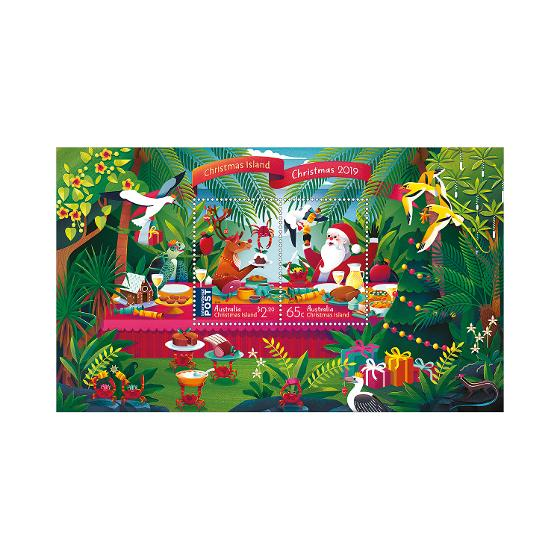 Christmas Island Christmas 2019 minisheet product photo Internal 1 DETAILS
