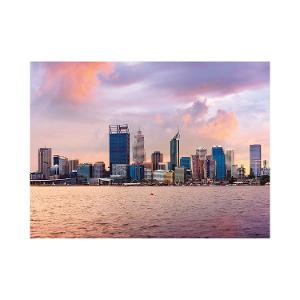 Perth skyline postcard product photo