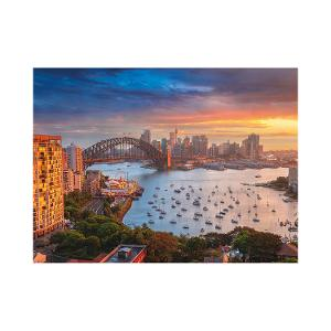 Sunset over Sydney postcard product photo