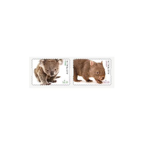 Strip of two Australian Fauna II self-adhesive stamps product photo Internal 1 DETAILS