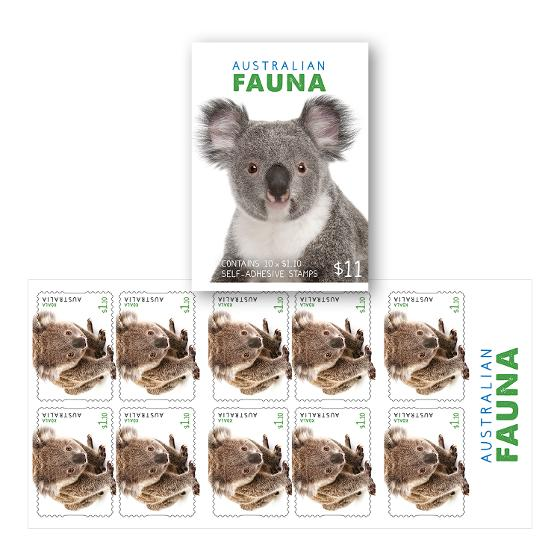 Booklet of 10 x $1.10 Koala stamps product photo Internal 1 DETAILS