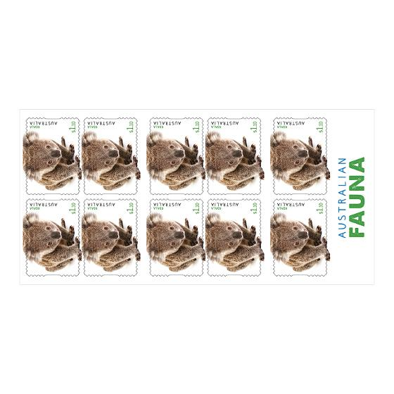 Booklet of 10 x $1.10 Koala stamps product photo Internal 2 DETAILS