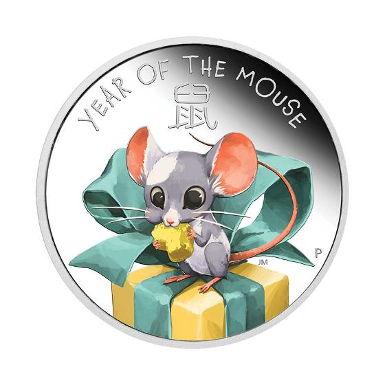 2020 Baby Mouse 1/2oz silver proof coin product photo Internal 1 DETAILS