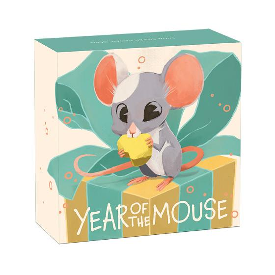 2020 Baby Mouse 1/2oz silver proof coin product photo Internal 3 DETAILS