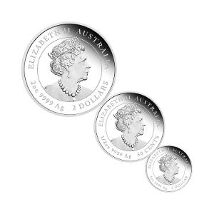 2020 Year of the Mouse silver proof three-coin set product photo