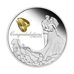2020 Wedding 1oz silver proof coin product photo