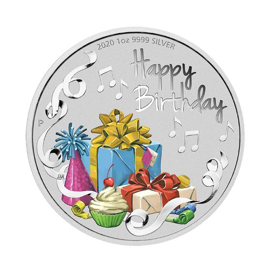 2020 Happy Birthday 1oz silver proof coin product photo Internal 1 DETAILS