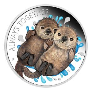 2020 Otters 1/2oz silver proof coin product photo