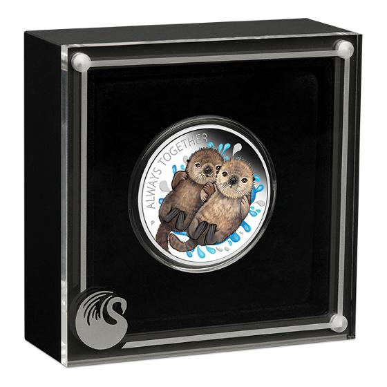 2020 Otters 1/2oz silver proof coin product photo Internal 2 DETAILS