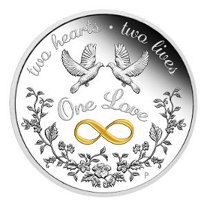2020 One Love 1oz silver proof coin product photo