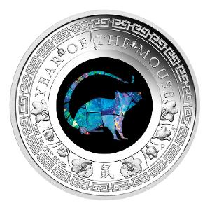 2020 Lunar Opal Year of the Mouse 1oz silver proof coin product photo