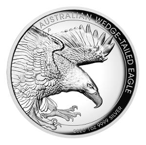 2020 1oz Silver Proof Wedge-tailed Eagle high relief coin product photo