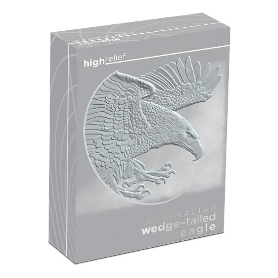 2020 1oz Silver Proof Wedge-tailed Eagle high relief coin product photo Internal 3 DETAILS