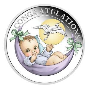 2020 Newborn Stork 1/2oz silver proof coin product photo