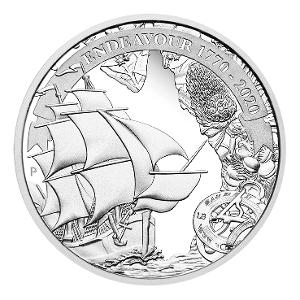 Endeavour 1770-2020 1oz Silver proof coin product photo