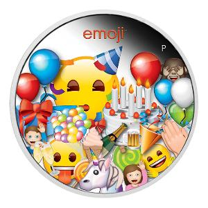 2020 emoji™ Celebration 1oz silver proof coin product photo