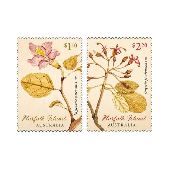Set of Norfolk Island Early Botanical Art stamps product photo Internal 1 DETAILS
