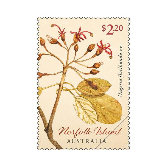 Set of Norfolk Island Early Botanical Art stamps product photo Internal 3 DETAILS