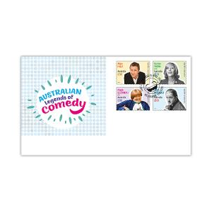 First day Australian Legends of Comedy gummed stamps cover product photo